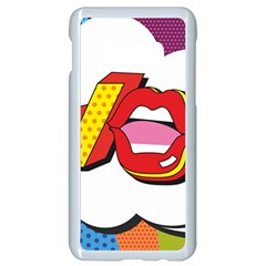 Wow Mouth Polka Pop Samsung Galaxy S10e Seamless Case (white) by AnjaniArt