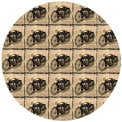 Indian Motorcycle Wooden Puzzle Round by ArtworkByPatrick