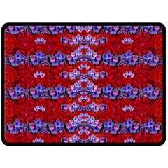 Flowers So Small On A Bed Of Roses Double Sided Fleece Blanket (large)  by pepitasart
