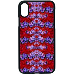Flowers So Small On A Bed Of Roses Iphone X Seamless Case (black) by pepitasart