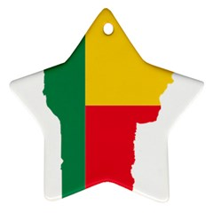 Benin Africa Borders Country Flag Ornament (star) by Sapixe