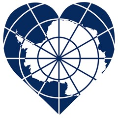 Emblem Of The Antarctic Treaty Wooden Puzzle Heart