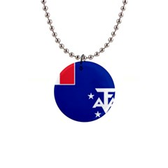 Flag Of The French Southern And Antarctic Lands 1  Button Necklace by abbeyz71