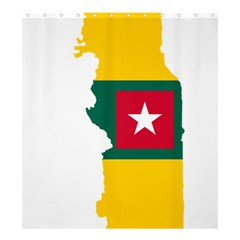 Togo Flag Map Geography Outline Shower Curtain 66  X 72  (large)