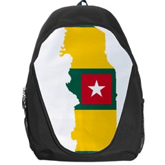 Togo Flag Map Geography Outline Backpack Bag by Sapixe