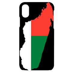 Madagascar Flag Map Geography Iphone X/xs Black Uv Print Case by Sapixe