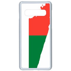 Madagascar Flag Map Geography Samsung Galaxy S10 Seamless Case(white) by Sapixe