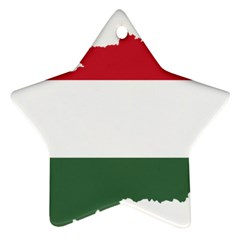 Hungary Country Europe Flag Ornament (star) by Sapixe