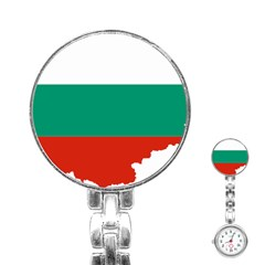 Bulgaria Country Europe Flag Stainless Steel Nurses Watch by Sapixe