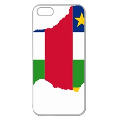 Central African Republic Flag Map Apple Seamless Iphone 5 Case (clear)