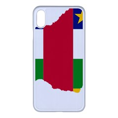 Central African Republic Flag Map Iphone Xs Max Seamless Case (white) by Sapixe