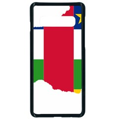 Central African Republic Flag Map Samsung Galaxy S10 Seamless Case(black)