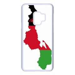 Malawi Flag Map Geography Outline Samsung Galaxy S9 Seamless Case(white) by Sapixe