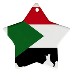 Sudan Flag Map Geography Outline Ornament (star)