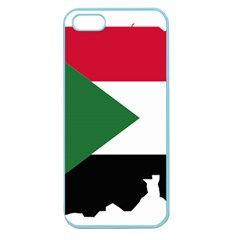 Sudan Flag Map Geography Outline Apple Seamless Iphone 5 Case (color)