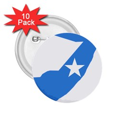 Somalia Flag Map Geography Outline 2 25  Buttons (10 Pack)  by Sapixe