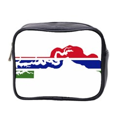 Gambia Flag Map Geography Outline Mini Toiletries Bag (two Sides) by Sapixe