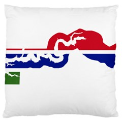 Gambia Flag Map Geography Outline Large Cushion Case (one Side)