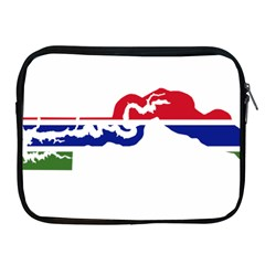 Gambia Flag Map Geography Outline Apple Ipad 2/3/4 Zipper Cases
