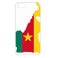 Cameroon Flag Map Geography Iphone 5 Seamless Case (white)