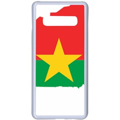 Burkina Faso Flag Map Geography Samsung Galaxy S10 Plus Seamless Case(white) by Sapixe