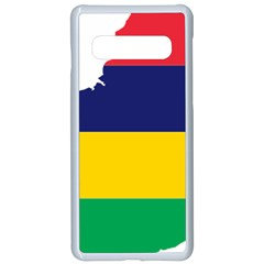 Mauritius Flag Map Geography Samsung Galaxy S10 Seamless Case(white)