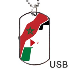 Western Sahara Flag Map Geography Dog Tag Usb Flash (one Side) by Sapixe
