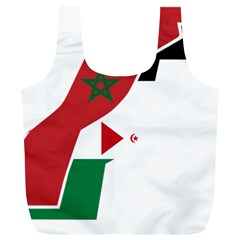 Western Sahara Flag Map Geography Full Print Recycle Bag (xl)