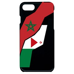 Western Sahara Flag Map Geography Iphone 7/8 Black Uv Print Case by Sapixe