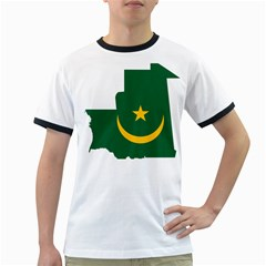 Mauritania Flag Map Geography Ringer T by Sapixe