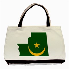 Mauritania Flag Map Geography Basic Tote Bag by Sapixe