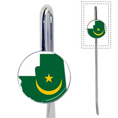 Mauritania Flag Map Geography Book Mark