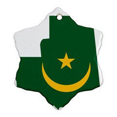 Mauritania Flag Map Geography Ornament (snowflake)