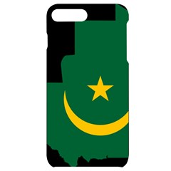 Mauritania Flag Map Geography Iphone 7/8 Plus Black Uv Print Case by Sapixe