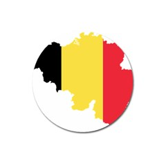 Belgium Country Europe Flag Magnet 3  (round) by Sapixe