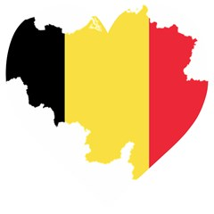Belgium Country Europe Flag Wooden Puzzle Heart