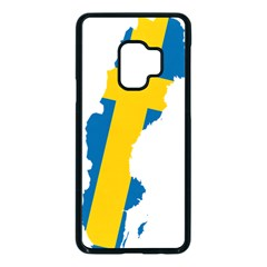 Sweden Country Europe Flag Borders Samsung Galaxy S9 Seamless Case(black) by Sapixe