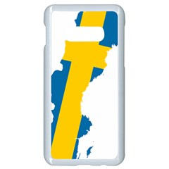 Sweden Country Europe Flag Borders Samsung Galaxy S10e Seamless Case (white) by Sapixe