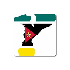 Mozambique Flag Map Geography Square Magnet by Sapixe