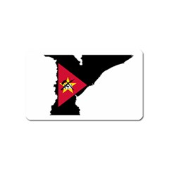 Mozambique Flag Map Geography Magnet (name Card) by Sapixe