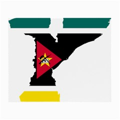 Mozambique Flag Map Geography Small Glasses Cloth (2 Sides) by Sapixe