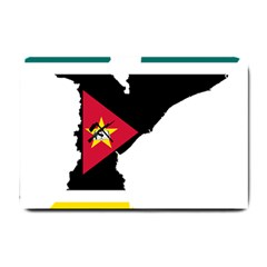 Mozambique Flag Map Geography Small Doormat  by Sapixe