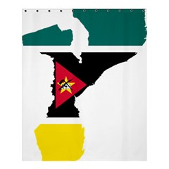 Mozambique Flag Map Geography Shower Curtain 60  X 72  (medium)  by Sapixe