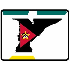 Mozambique Flag Map Geography Double Sided Fleece Blanket (large)  by Sapixe