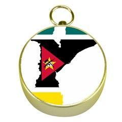 Mozambique Flag Map Geography Gold Compasses by Sapixe