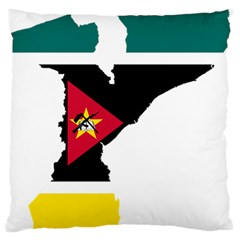 Mozambique Flag Map Geography Standard Flano Cushion Case (two Sides) by Sapixe