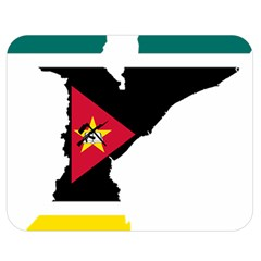 Mozambique Flag Map Geography Double Sided Flano Blanket (medium)  by Sapixe