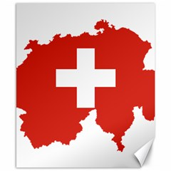 Switzerland Country Europe Flag Canvas 8  X 10  by Sapixe