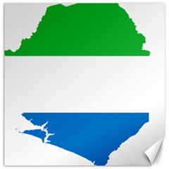 Sierra Leone Flag Map Geography Canvas 16  X 16  by Sapixe