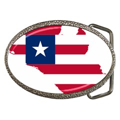 Liberia Flag Map Geography Outline Belt Buckles